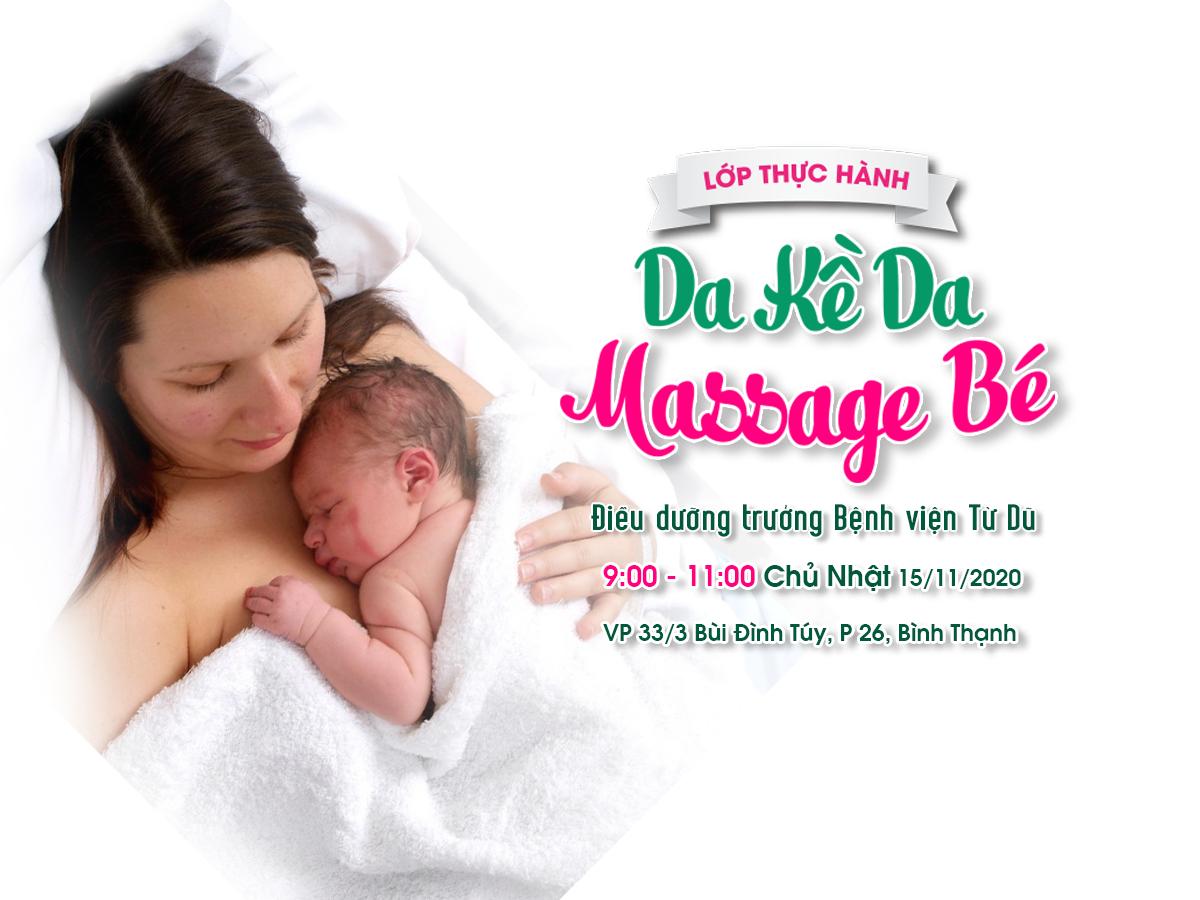 TP.HCM] - Lớp thực hành: Da kề da và massage cho bé -