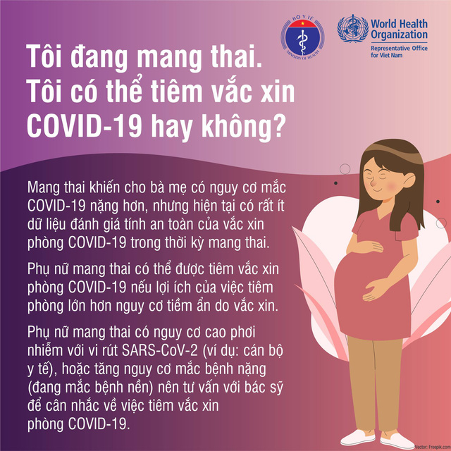 Phụ nữ mang thai có nên tiêm vắc xin COVID-19?